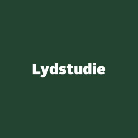 Lydstudie